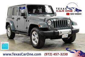 2014_Jeep_Wrangler_UNLIMITED SAHARA 4WD HARD TOP CONVERTIBLE NAVIGATION LEATHER SEATS TOW HITCH_ Carrollton TX