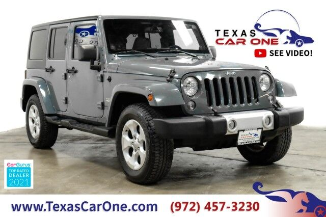 2014 Jeep Wrangler UNLIMITED SAHARA 4WD HARD TOP CONVERTIBLE NAVIGATION LEATHER SEATS TOW HITCH Carrollton TX