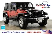 2014 Jeep Wrangler UNLIMITED SAHARA 4WD SOFT TOP CONVERTIBLE NAVIGATION TOW HITCH A