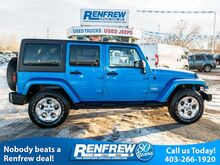 2014_Jeep_Wrangler Unlimited_4WD Sahara, MANUAL, Navigation, Air Conditioning, Bluetooth, SiriusXM_ Calgary AB