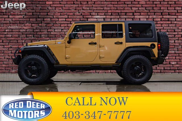 2014 Jeep Wrangler Unlimited 4x4 Sahara Red Deer AB