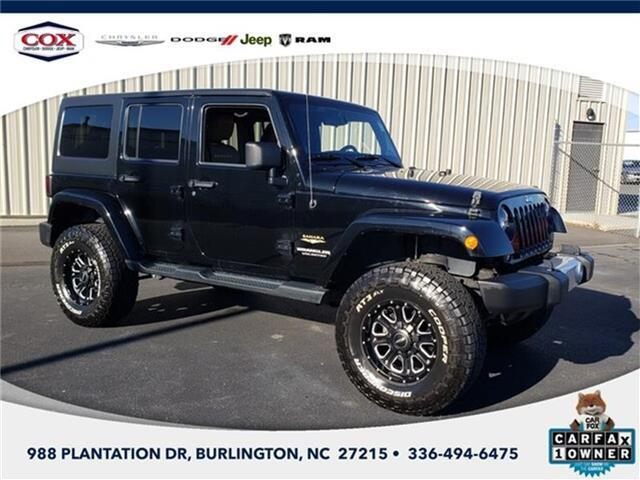 2014 Jeep Wrangler Unlimited Sahara 4x4 Burlington NC