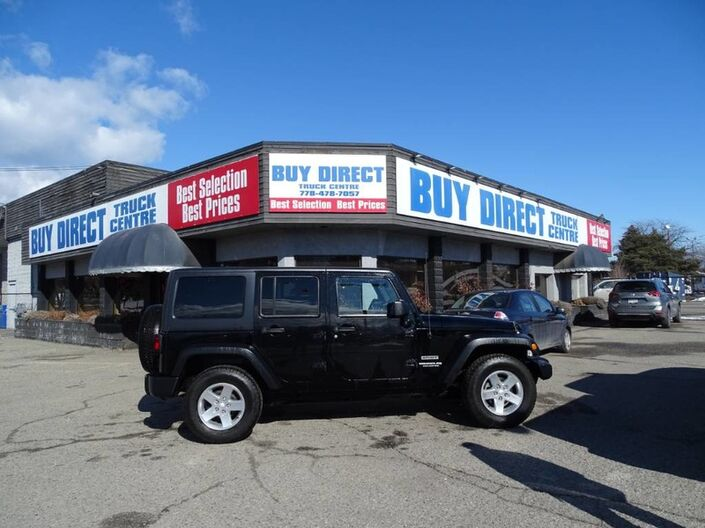 2014 Jeep Wrangler Unlimited Sport, 4 Door, Comes with Soft Top, Leather Front Seat Covers Kelowna BC