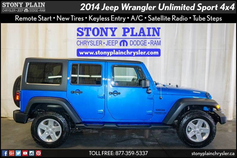 2014 Jeep Wrangler Unlimited Sport Stony Plain AB