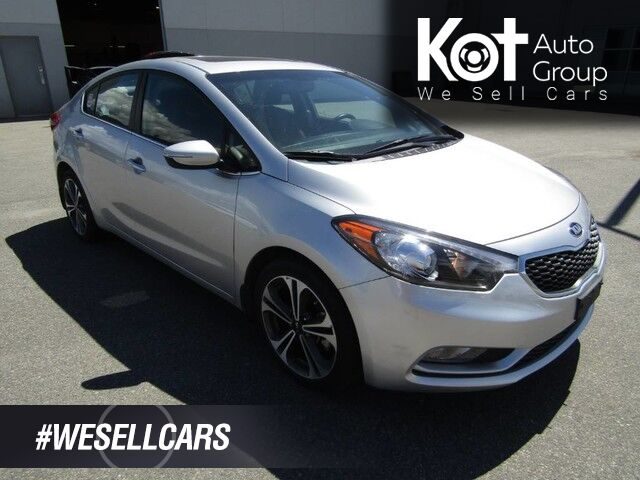 2014 Kia Forte SX! FULL LOAD! SUNROOF! LEATHER! NAV! BACKUP CAM! LOW KMS! Kelowna BC