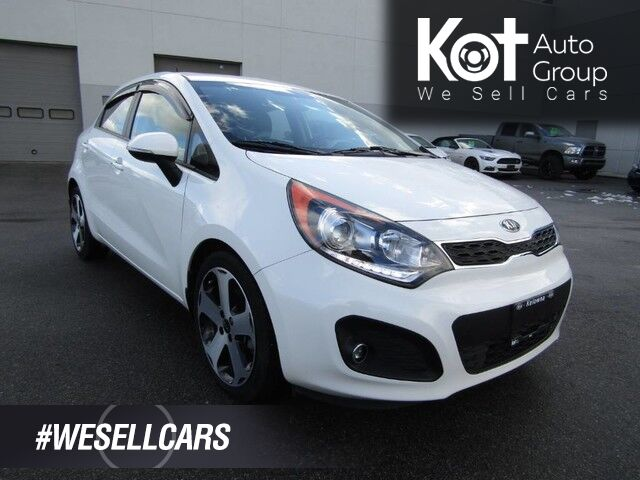 2014 Kia Rio SX! SUNROOF! NAVIGATION! LEATHER! BACKUP CAM! BLUETOOTH! SUPER LOW KMS! Kelowna BC
