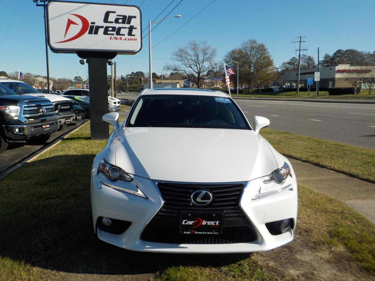 2014 LEXUS IS 250 AWD, LEATHER, BACKUP CAM, BLUETOOTH WIRELESS, REMOTE START, HEATED & COOLED SEATS, ONLY 54K MILES! Virginia Beach VA