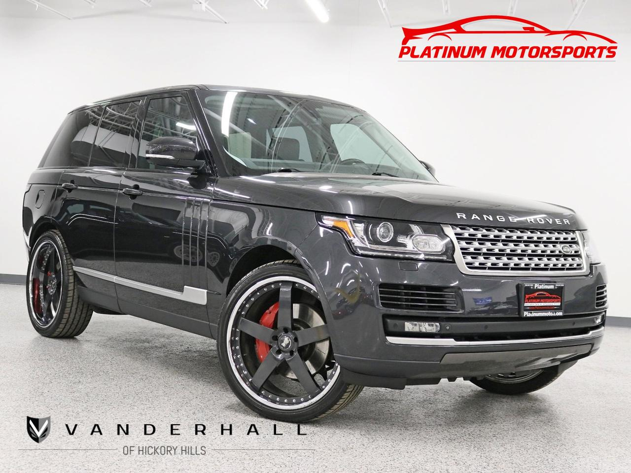2014 Land Rover Range Rover SC 2 Owner Pano Wood 24 Color Painted Rims Vision Assist Pkg Soft Close Doors Loaded Hickory Hills IL