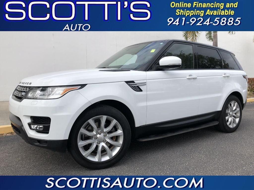 2014 Land Rover Range Rover Sport HSE~ WHITE/ BLACK LEATHER~ CLEAN CARFAX~WHOLESALE PRICE~ ONLINE FINANCE AND SHIPPING! Sarasota FL