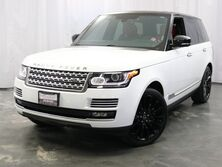 Land Rover Range Rover Supercharged Autobiography / Fuji White with Red Interior / 5.0L V8 Supercharged Engine / Rear Entertainment / Panoramic Sunroof / Navigation Addison IL