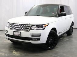 2014_Land Rover_Range Rover_Supercharged Autobiography / Fuji White with Red Interior / 5.0L V8 Supercharged Engine / Rear Entertainment / Panoramic Sunroof / Navigation_ Addison IL