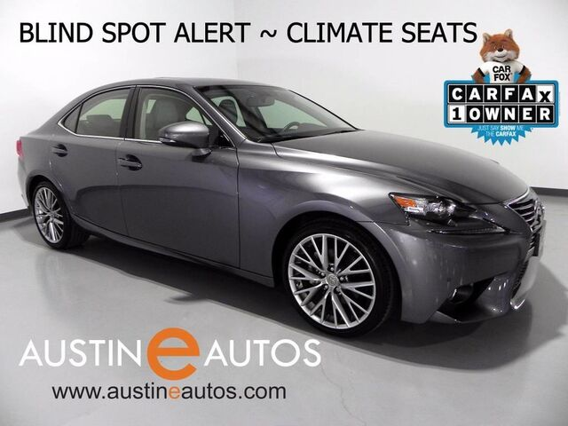 2014 Lexus IS 250 *BLIND SPOT ALERT, BACKUP-CAMERA, CLIMATE SEATS, MOONROOF, BLUETOOTH PHONE & AUDIO Round Rock TX