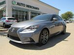 2014 Lexus IS 250 F-SPORT 2WD RED LEATHER, NAVIGATION, PADDLE SHIFTERS, BLUETOOTH, BACKUP CAM, REAR CLIMATE