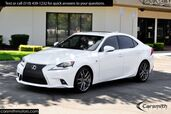 2014 Lexus IS 250 F-Sport Navigation & Striking White-on-Red Color Combo!