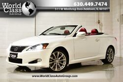 Lexus IS 350C HARDTOP CONVERTIBLE RED LEATHER XENONS BACK-UP CAMERA NAVIGATION SYSTEM 2014