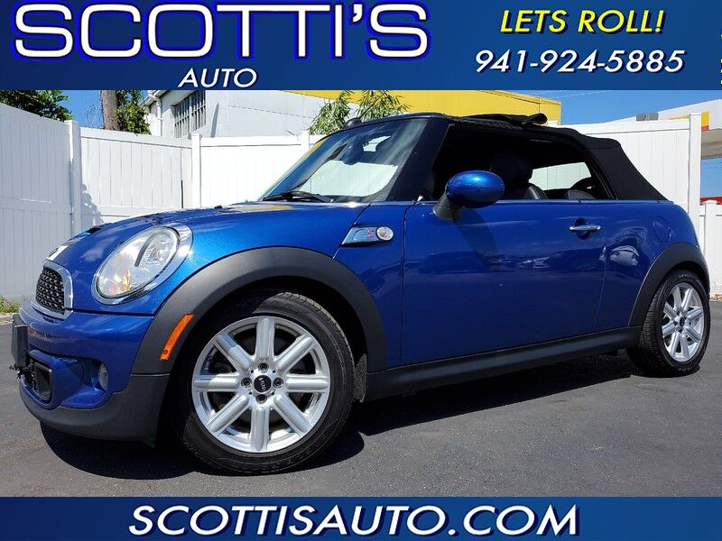 2014 MINI Cooper Convertible S-CONVERTIBLE~ CLEAN CARFAX~ MANUAL SHIFT~ FUN TO DRIVE~ ONLINE FINANCE AVAILABLE! Sarasota FL