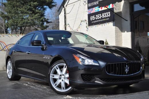 2014 Maserati Quattroporte S Q4/AWD/410 HP/Climate Pack/Heated Comfort Seats/Rear Parking Cam/20'' Wheels/Alcantara Rooflining/Erable Wood/Leather Steering Wheel/Red Calipers Nashville TN