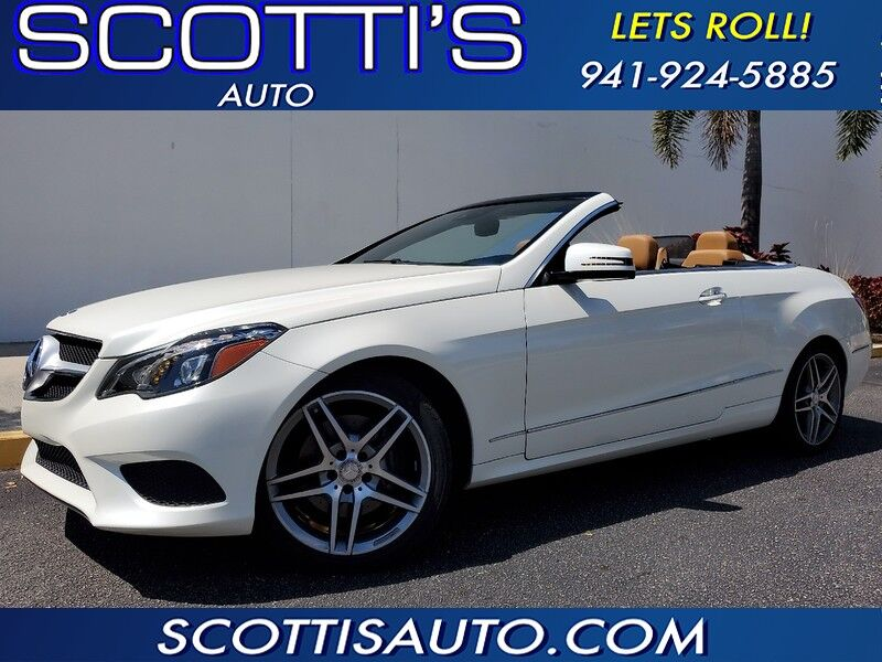 2014 Mercedes-Benz E-Class E 350~ CONVERTIBLE~ BEST COLOR COMBO~ POWER CONVERTIBLE TOP~ CLEAN CARFAX~ TAN LEATHER! SUPER NICE! FINANCE AVAILABLE! Sarasota FL
