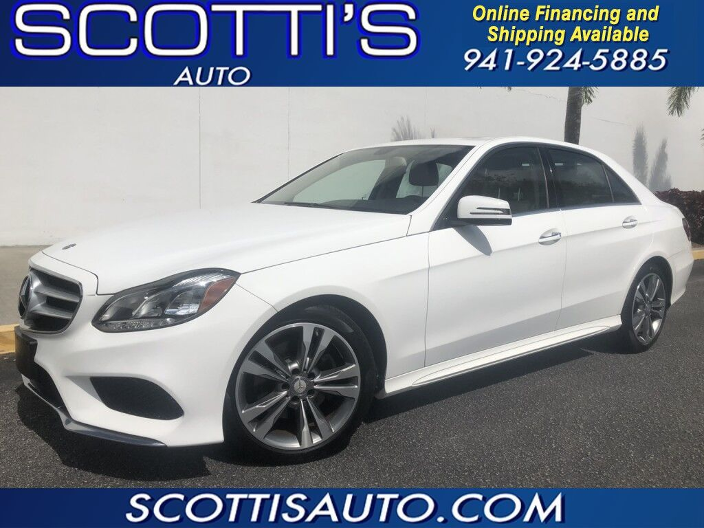 2014 Mercedes-Benz E-Class E 350 Sport~ ONLY 41K MILES~ WHITE/ BEIGE~ NAVIGATION~ GREAT FLORIDA COLORS~ SUPER CLEAN~ LOOKS AND RUNS GREAT! WE OFFER ONLINE FINANCE AND SHIPPING~ Sarasota FL