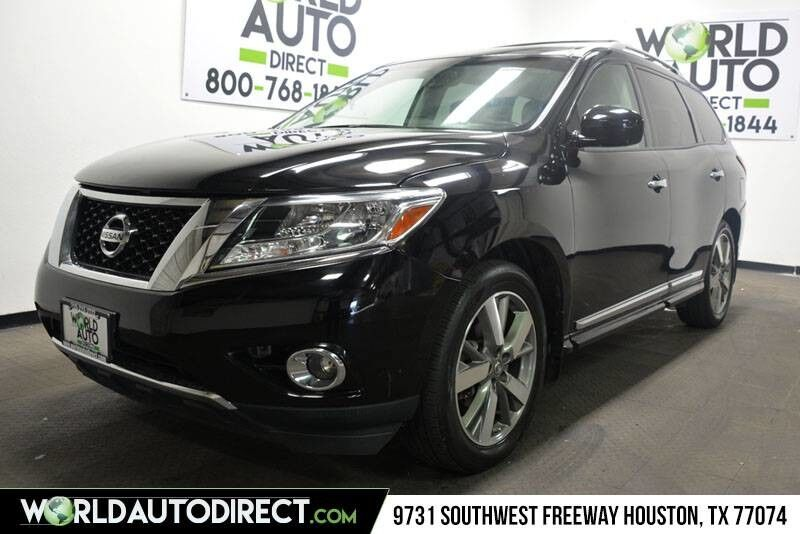 2014_Nissan_Pathfinder_Platinum 3.5l V6 Engine four wheel drive_ Houston TX