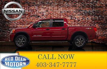 2014_Nissan_Titan_4x4 Crew Cab Pro 4X Leather Roof Nav_ Red Deer AB