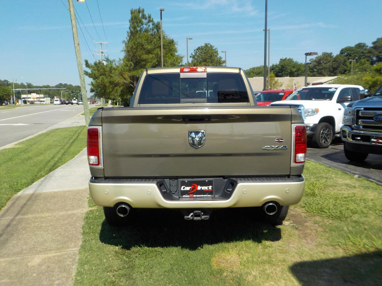 2014 RAM 1500 LONGHORN ECODIESEL CREW CAB 4X4, MOONROOF, REMOTE START, FENDER FLARES, HEATED & COOLED SEATING, TOW Virginia Beach VA