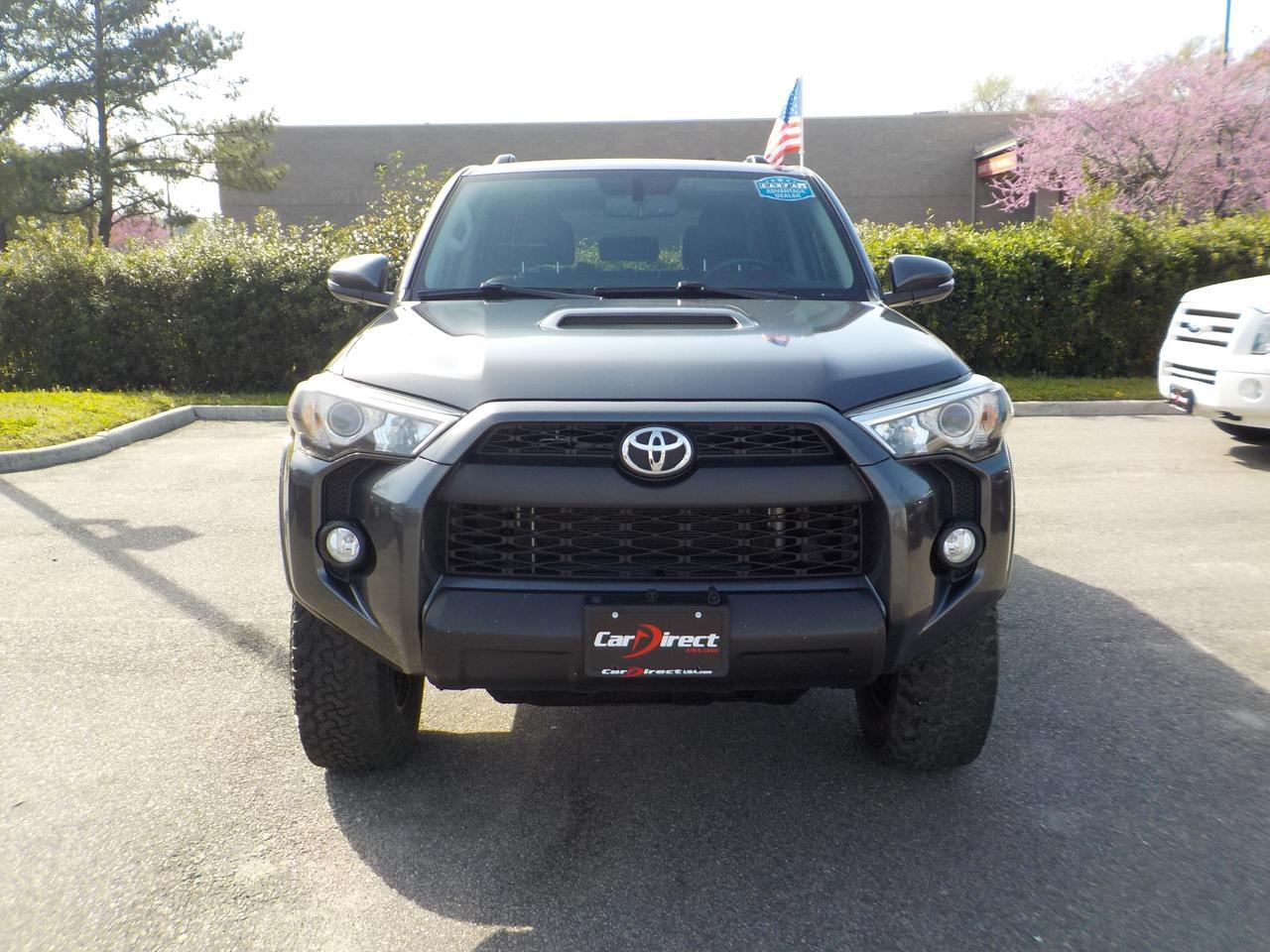 2014 TOYOTA 4RUNNER TRAIL 4X4, ONE OWNER, GRACENOTE SOUND SYSTEM, DVD ENTERTAINMENT, LEATHER HEATED SEATS, TOW PACKAGE! Virginia Beach VA