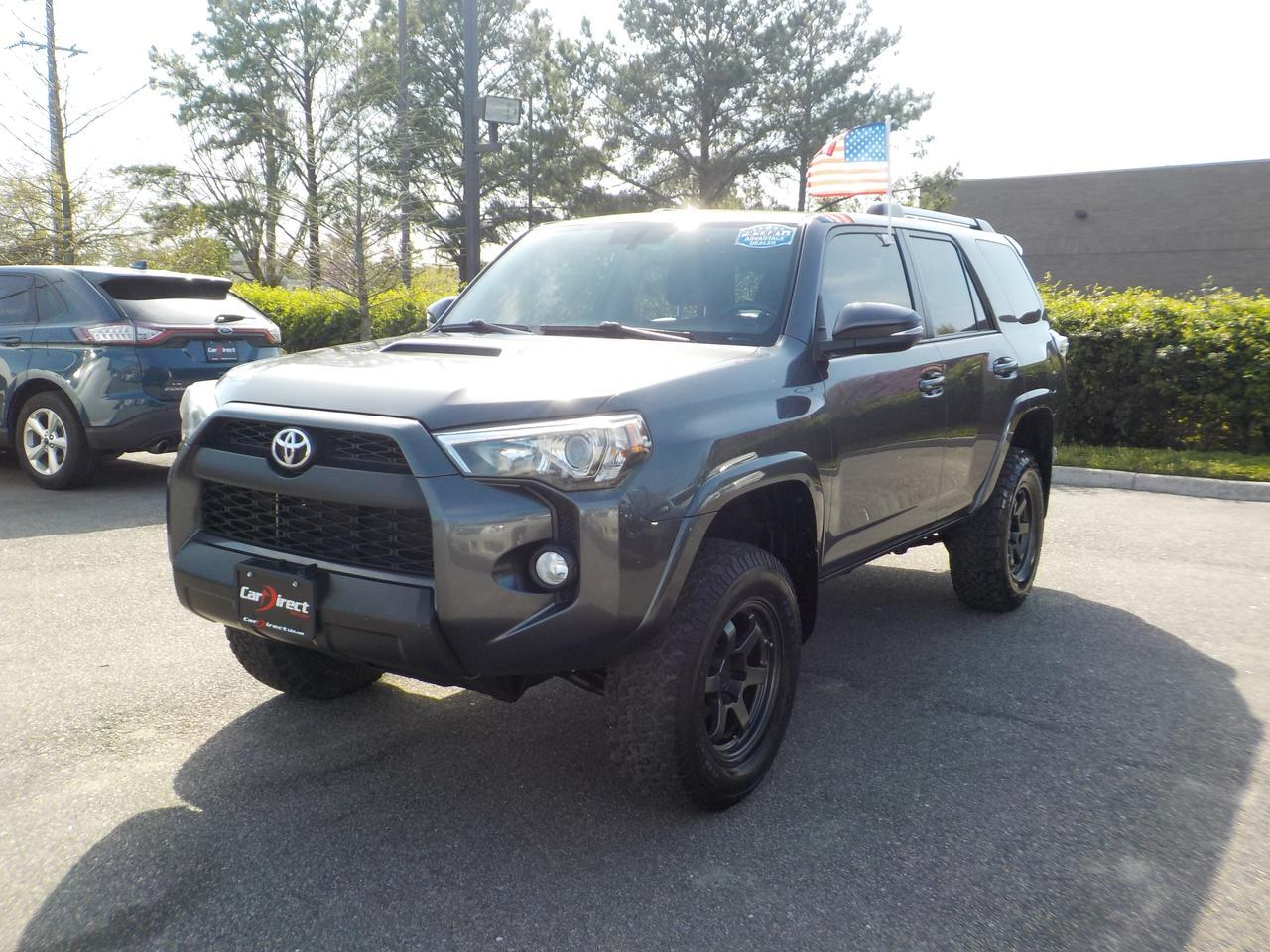 2014 TOYOTA 4RUNNER TRAIL 4X4, ONE OWNER, GRACENOTE SOUND SYSTEM, DVD ENTERTAINMENT, LEATHER HEATED SEATS, TOW PACKAGE!