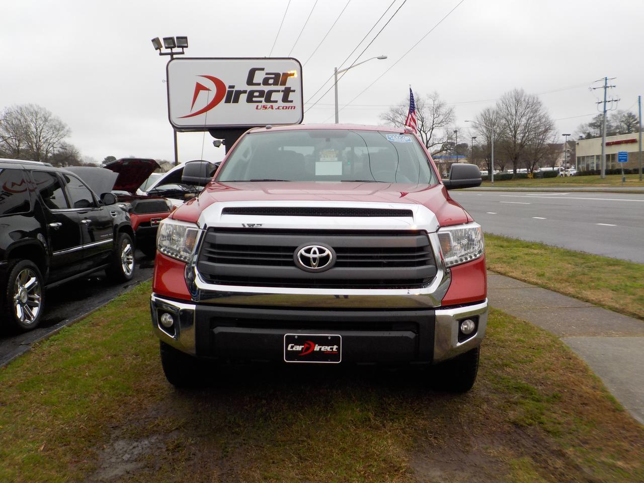 2014 TOYOTA TUNDRA SR5 DOUBLE CAB 4X4, WARRANTY, RUNNING BOARDS, BED LINER, BLUETOOTH, BACKUP CAMERA, TOW PACKAGE! Virginia Beach VA