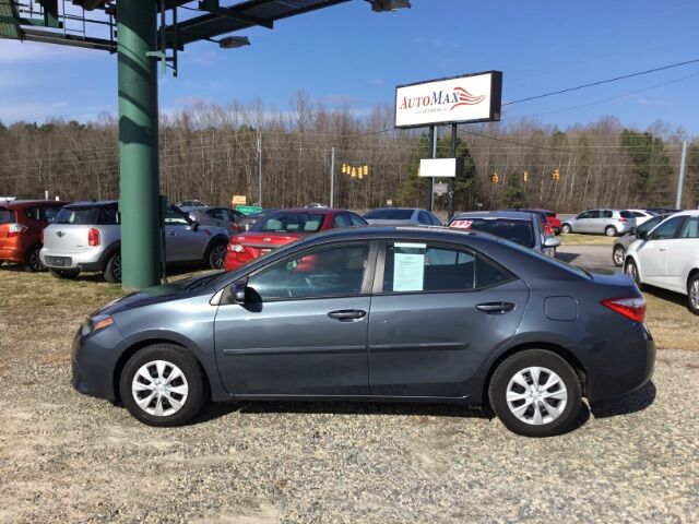 2014 Toyota Corolla L 6-Speed MT Youngsville NC