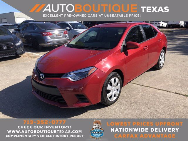 2014 Toyota Corolla LE Plus Houston TX