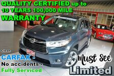 2014 Toyota Highlander AWD Limited - Clean CARFAX - No accidents - Fully Serviced - QUALITY CERTIFIED up to 10 YEARS 100,000 MILE WARRANTY