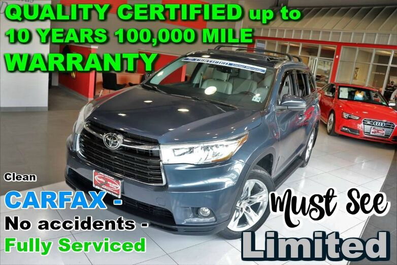 2014 Toyota Highlander AWD Limited - Clean CARFAX - No accidents - Fully Serviced - QUALITY CERTIFIED up to 10 YEARS 100,000 MILE WARRANTY Springfield NJ