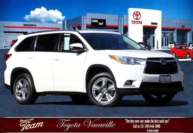 2014 Toyota Highlander Limited Sport Utility Vacaville CA