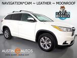 2014 Toyota Highlander XLE *NAVIGATION, BACKUP-CAMERA, 2ND ROW BUCKET SEATS, TOUCH SCREEN, MOONROOF, LEATHER, HEATED SEATS, BLUETOOTH PHONE & AUDIO