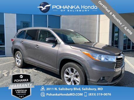 2014_Toyota_Highlander_XLE V6 ** Certified 6 Months / 6,000  **_ Salisbury MD