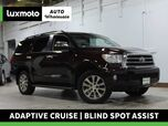 2014 Toyota Sequoia Limited 4WD 3rd Row Nav Back-Up Cam 34k Miles