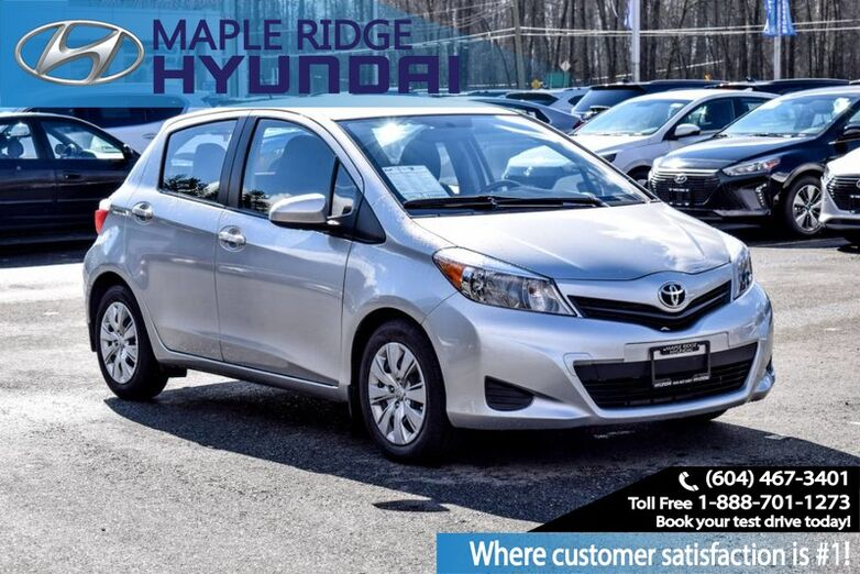 2014 Toyota Yaris Hatchback Auto CE, Fuel Efficient, Air Conditioning, Remote Keyless Entry Maple Ridge BC