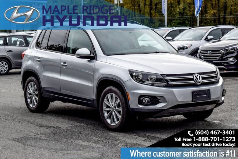 2014 Volkswagen Tiguan Comfortline, Leather, Panoramic Sunroof, Bluetooth, Back Up camera Maple Ridge BC