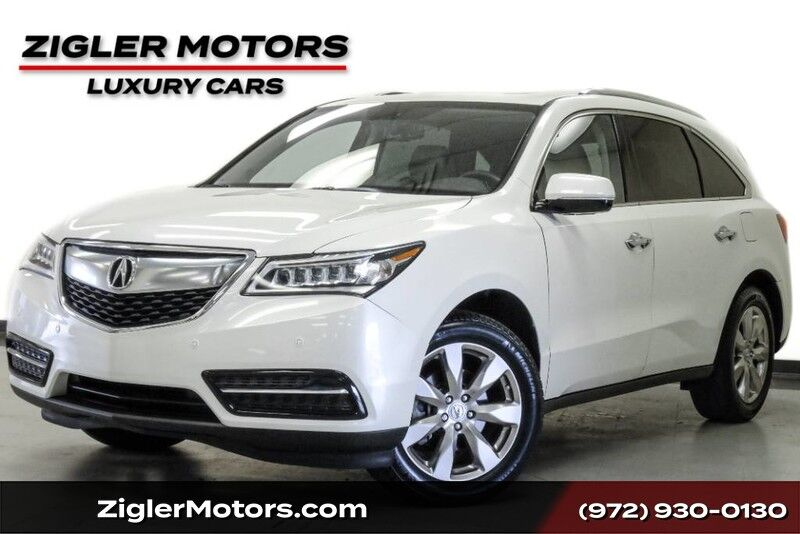 2015 Acura MDX Advance/Entertainment Pkg One Owner Clean Carfax Addison TX