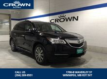2015_Acura_MDX_SH-All Wheel Drive Elite Pkg DVD_ Winnipeg MB