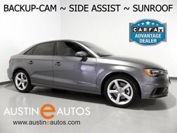 2015_Audi_A3 1.8T Premium_*BACKUP-CAMERA, SIDE ASSIST, LEATHER, OVERSIZED MOONROOF, XENONs/LEDs, BLUETOOTH PHONE & AUDIO_ Round Rock TX