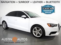 2015_Audi_A3 1.8T Premium_*NAVIGATION, OVERSIZED MOONROOF, LEATHER, HEATED FRONT SEATS, ALLOY WHEELS, SATELLITE RADIO, BLUETOOTH PHONE & AUDIO_ Round Rock TX