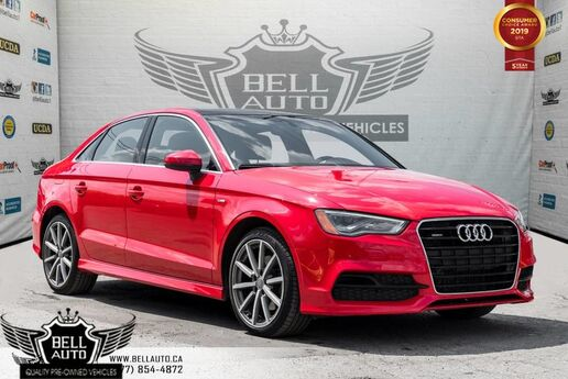 2015 Audi A3 2.0T Technik, S-LINE, NAVI, BACK-UP CAM, SUNROOF, SENSORS Toronto ON