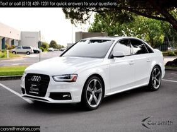 2015_Audi_A4_Premium Plus Sport Plus Tech 1 Owner White/Black!_ Fremont CA