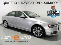 2015_Audi_A4 Quattro 2.0T Premium_*NAVIGATION, MOONROOF, LEATHER, HEATED SEATS, XENONs/LEDs, 18in ALLOYS, BLUETOOTH_ Round Rock TX
