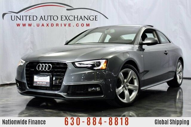 2015 Audi A5 2.0L Engine AWD Quattro Premium Plus ** Coupe S Line ** w/ Sunroof, Navigation, Bluetooth Audio, Bang & Olufsen Premium Sound System, Push Start Button, Parking Aid with Rear View Camera Addison IL