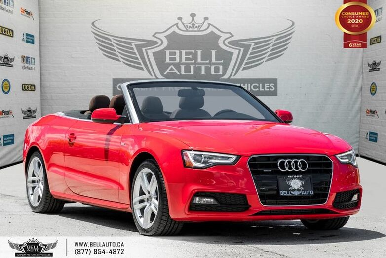 2015 Audi A5 Technik, CONVERTIBLE, NO ACCIDENT, AWD, NAVI, REAR CAM Toronto ON