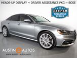 2015 Audi A6 Quattro 3.0T Prestige *HEADS-UP DISPLAY, NAVIGATION, ADAPTIVE CRUISE, SIDE ASSIST, TOP VIEW CAMERAS, MOONROOF, LEATHER, CLIMATE SEATS, LED HEADLIGHTS, BOSE AUDIO, BLUETOOTH