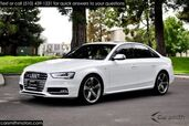 2015 Audi S4 Prestige White/Magna Red 5 Arm Titanium Wheels!